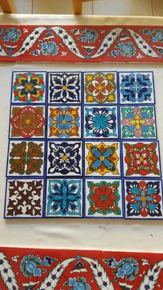 Tile Art, Mosaic Art, Mosaic Tiles, Moroccon Tiles, Arte Coral, Painted Rocking Chairs, Mexican Crafts, Talavera Pottery, Italian Tiles