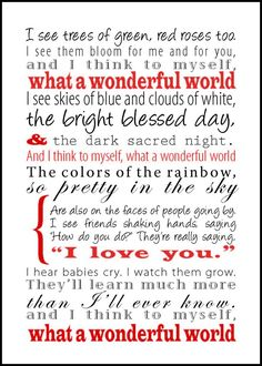 """""""What a Wonderful World,"""" Louis Armstrong"""