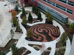 Healing Garden with Labyrinth at new Methodist Women's Hospital | Methodist Women's Hospital | MHS