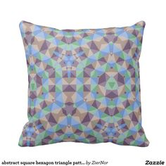 abstract square hexagon triangle pattern throw pillows