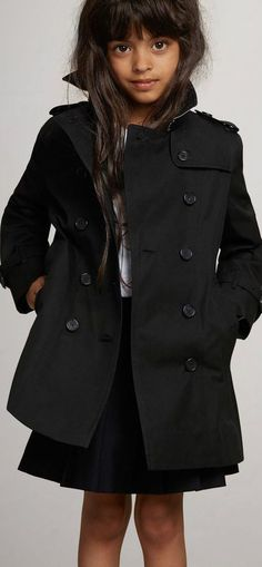e414a3cc81d8 Burberry Kids Mini Me Sandringham Black Trench Coat. This classic black  mini-me trench