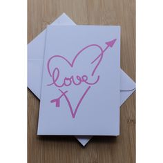 Love thru the Heart Just Because Card I Love You Card by #GothamPops on Etsy