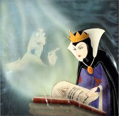 → Snow White and the Seven Dwarfs The Evil Queen and the Old Hag Production Cel