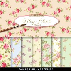 New Freebies Kit of Backgrounds - Alley Fleur:Far Far Hill - Free database of digital illustrations and papers