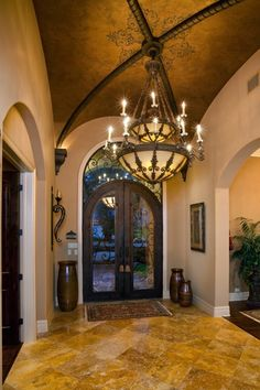 Gorgeous entryway, foyer interior design ideas and home decor by Bentley Manor Custom Home Interior & Exterior Design