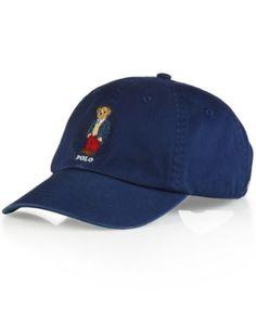 Polo Ralph Lauren Polo Bear Chino Baseball Cap - Preppy Polo Bear Men - Hats 44ca7d537526