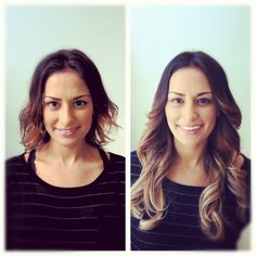 Ombré hair extensions Before and After at TheoryHairStudio.com
