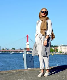 Stylish and versatile summer hijab outfit
