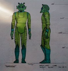 Greedo Action Figure Blueprint and Color Specification Sheet - Star Wars Collectors Archive