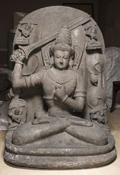 Manjushri inscription, 1344 AD. Origin from Candi Jago, East Java, Indonesia, The Singasari Period, Limestone; gilding. Asian Sculptures, Indonesian Art, 17th Century Art, Old Cemeteries, Angel Statues, Buddhist Art, Luxor Egypt, British Museum, Indian Art