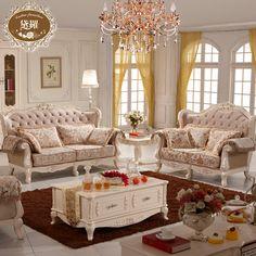 【黛罗家具旗舰店】黛罗欧式沙发 实木沙发 客厅组合 法式田园风格502