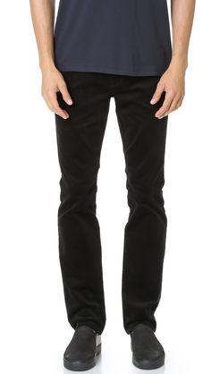 VINCE 718 Slim Taper 5 Pocket Corduroy Pants. #vince #cloth #pants