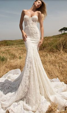 Wedding dress idea; Featured Dress: Galia Lahav