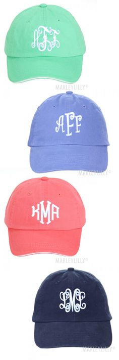 973fb33356b98 Monogrammed Baseball Hat from Marleylilly.com Monogram Hats