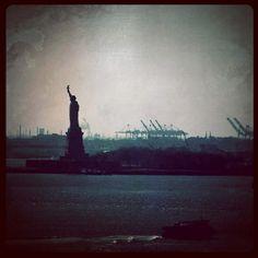 Statue Of Liberty from Brooklyn Bridge