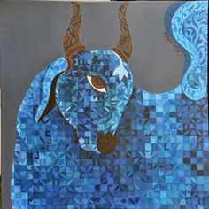 Kamadhenu (Sacred Cow)  Buy this work and we promise to donate 47 € for the association: French Association of Atresia of the Esophagus (AFAO) http://www.passionartly.fr/oeuvre/peinture-acrylique/Kamadhenu-Sacred-Cow-562.html