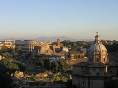 Vittorio Emanuele II Monument - Rome from the Sky Elevator - beautiful views of the city