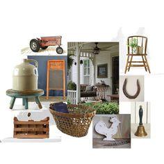 Vintage Vignette ~ Farmhouse Style by vintageandmain  #frontporch, #vintage #vintagedecor #summerdecor #farmhouse #rustic #homedecor #summerveranda