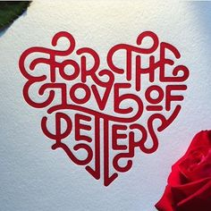 Bit late for valentines but I love this monoweight lettering by @wellscollins @instagrahamclifford & @voteforletterpress via @goodtype by typeworship