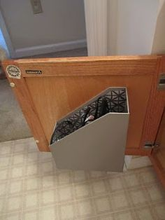 DIY hair dryer & straightener holder for under the bathroom sink!!