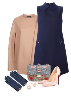 """""""Untitled #195"""" by tijana89 ❤ liked on Polyvore featuring Ted Baker, Valentino, Christian Louboutin and Astley Clarke"""