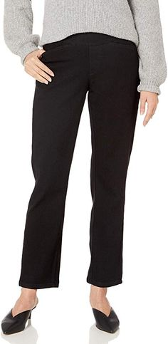 Find Chic Classic Collection Women's Plus Size Easy Fit Elastic Waist Pull On Pant online. Shop the latest collection of Chic Classic Collection Women's Plus Size Easy Fit Elastic Waist Pull On Pant from the popular stores - all in one Cute Pants Outfits, Colored Pants Outfits, Casual Pants, Jeans For Tall Women, Pants For Women, Fall Pants, Summer Pants, Outfit Summer, Petite Leggings