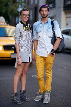 My future boyfriend and I. We're such hipsters..