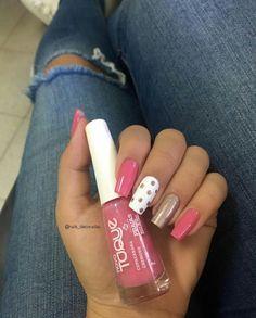 Pink Nail Art, Cute Nail Art, Pink Nails, Glam Nails, Toe Nails, Beauty Nails, Toenail Art Designs, Pink Nail Designs, Manicure E Pedicure