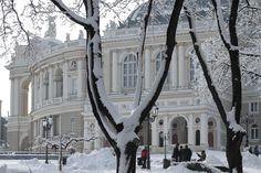 Odessa Opera and Ballet theater. Ukraine Cities, Ballet Theater, Snow Scenes, Black Sea, Vacation Spots, Opera House, City Photo, Places To Visit, Mansions