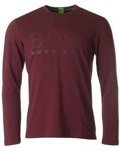 cf2c47569f5 Mens Hugo Boss Green Togn Us Big Logo Long Sleeved T-shirt