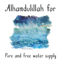 79. Alhamdulillah for pure and free water supply (rain)  #AlhamdulillahForSeries