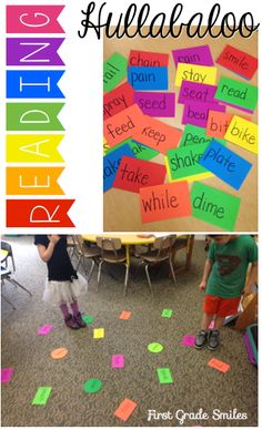 Active sight word game for kids. Great for those kinesthetic learners. Could be like musical chairs but with poetry. I read the poem, and the students have to find the next word in the poem. There are less and less words available. Teaching Sight Words, Sight Word Practice, Sight Word Games, Sight Word Activities, Reading Activities, Literacy Activities, Spelling Practice, Spelling Games, Literacy Centers
