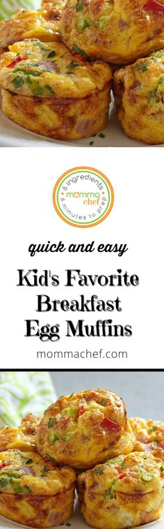 This delicious breakfast egg muffin recipe is a super easy to-go breakfast for your family. These store several days in the refrigerator.