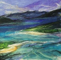 Luskentyre by Moy Mackay available at http://www.creativeartsgallery.com/art/mixed-media/luskentyre/ £950