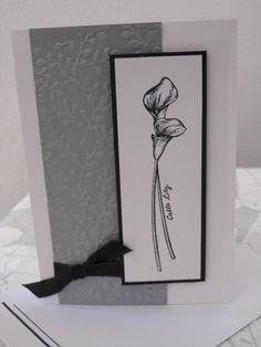 Handgemachte Stampin up  Karte mit Umschlag - Trauerkarte, Beileid