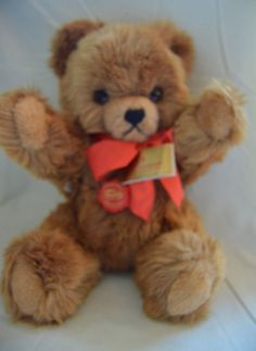 """12 inch Brown """"TEDDY HERMAN BEAR"""" with original labels Made in West Germany  New #HERMAN"""