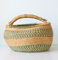 Vintage woven basket $44. I have one very similar & I love to use it at the farmers market!