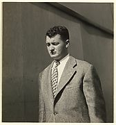 """[Male Pedestrian in Tweed Coat, Detroit (for Fortune Magazine Article """"Labor Anonymous"""")]  met"""