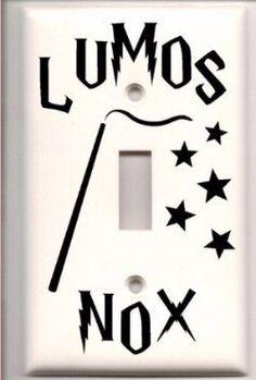 Harry Potter Lumos Nox Light Switch Vinyl Decal Cover