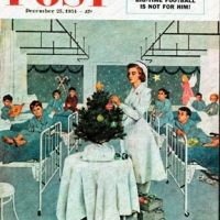 Children's Ward at Christmas by George Hughes, December 25, 1954