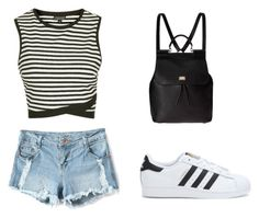 """""""Liza Koshy Inspired- Target!!!"""" by savannapodell ❤ liked on Polyvore featuring Topshop, Dolce&Gabbana and adidas"""