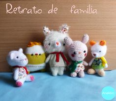 Family portrait ^^ #anekkahandmade #amigurumilandia # mohair doll #teddy bears