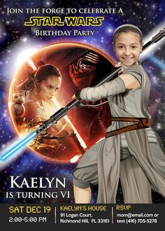 Turn Your Girl Into A Jedi And Be The Heroine Of Invite Star Wars