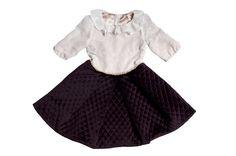 """""""Vanilla dots"""" dress for little girls"""