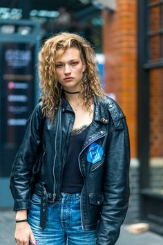 The Street Report: London Fashion Week Model Street Style, Spring Street Style, Street Look, Street Wear, Punk Princess, Models Off Duty, London Fashion, Leather Fashion, Vintage Fashion