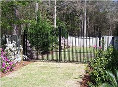 Lexington wrought iron driveway gate. We ship anywhere! amazinggates.com