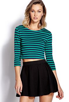 Mod Striped Crop Top | FOREVER21 - 2000091859