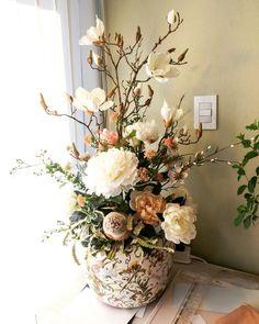 artificial flower arrangement Rustic Flower Arrangements, Silk Floral Arrangements, Artificial Flower Arrangements, Vase Arrangements, Beautiful Flower Arrangements, Flower Centerpieces, Artificial Flowers, Flower Decorations, Beautiful Flowers
