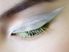 Dior Fall Haute Couture 2012 Makeup Looks - Christian Dior - I like lime green.