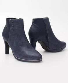Ankle Boots - Navy Good Customer Service, Online Shopping Stores, Urban Fashion, Ankle Boots, Footwear, Booty, Navy, Heels, Ankle Booties